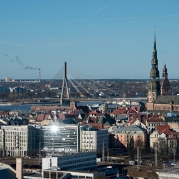 Panoramablick auf Riga