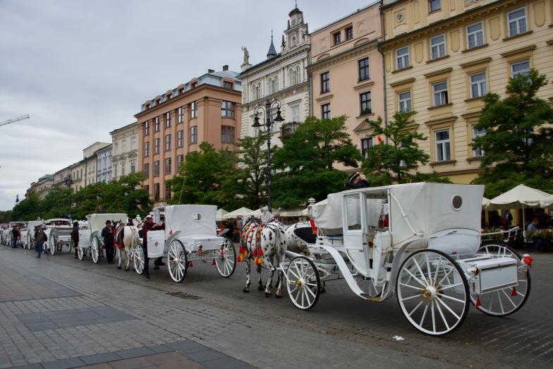 Pferdekutschen in der Altstadt